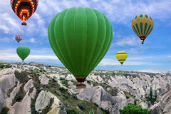 Hot air balloons in Goreme national park, Turkey Stock Photo