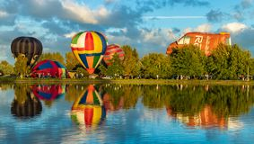 Hot Air Balloons Henley. Hot air balloons at Henley Lake, Masterton, New Zealand royalty free stock image