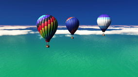 Hot-air balloons stock video