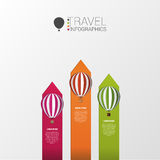 Hot air balloons. Infographic template. Vector Stock Images