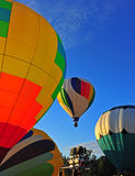 Hot air balloons launching Royalty Free Stock Photography