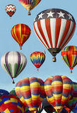 Hot Air Balloons Launching at the Balloon Fiesta Royalty Free Stock Photography