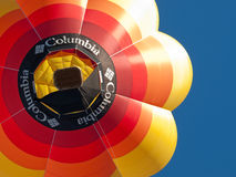 Hot air balloons in Mondovì, Italy Stock Image