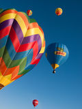 Hot air balloons in Mondovi', Italy Royalty Free Stock Photography