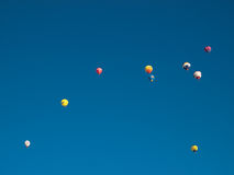 Hot air balloons in Mondovi', Italy Royalty Free Stock Image