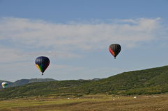3 hot-air-balloons. Stock Images
