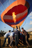 Hot-air balloons in Myanmar Royalty Free Stock Images