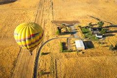 Hot air balloons Napa Valley stock photography