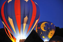 Hot Air Balloons at Night royalty free stock photography