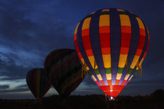 Hot Air Balloons at Night Stock Photos