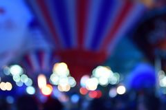 Hot air balloons at night. Out of  focus close up of hot air balloons illuminated at night Royalty Free Stock Photo