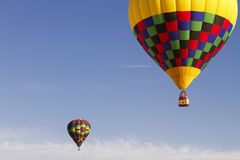 Hot Air Balloons Over Arizona Stock Photo