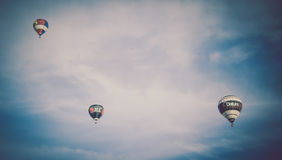 Hot air balloons over Bristol Royalty Free Stock Image
