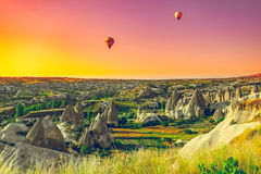 Hot air balloons over Cappadocia Stock Image