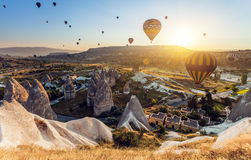 Hot air balloons over Cappadocia Royalty Free Stock Photography