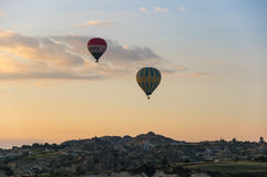 Hot Air Balloons over Cappadocia Royalty Free Stock Photos