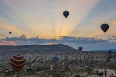 Hot Air Balloons over Cappadocia Royalty Free Stock Images