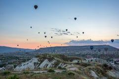 Hot Air Balloons over Cappadocia Royalty Free Stock Image