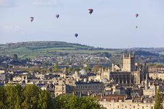 Hot Air Balloons over City of Bath Royalty Free Stock Images