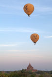 Hot air balloons over the ruins of Bagan, Myanmar Stock Image
