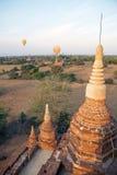 Hot air balloons over the ruins of Bagan, Myanmar Royalty Free Stock Image