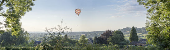 Hot air balloons over Wiltshire Royalty Free Stock Images