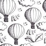 Hot Air Balloons pattern Stock Images