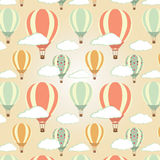 Hot air balloons pattern Royalty Free Stock Photos