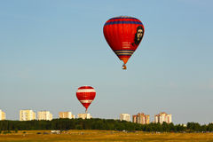 Hot air balloons with picture Ernesto Che Guevara Royalty Free Stock Images