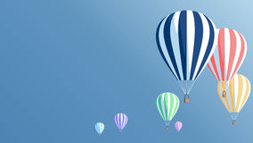 Hot air balloons poster Royalty Free Stock Photography