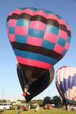 Hot Air Balloons prepare for takeoff Stock Image
