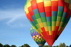 Hot Air Balloons ready for Take Off stock image