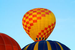 Hot air balloons rising Royalty Free Stock Photography