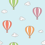 Hot air balloons seamless background Royalty Free Stock Photography