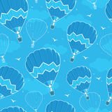 Hot air balloons seamless pattern background Stock Image