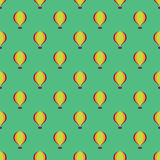 Hot air balloons seamless pattern background Royalty Free Stock Image