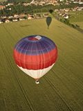 Hot air balloons and shadows Royalty Free Stock Photography