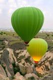 Hot air balloons show in Cappadocia Stock Images
