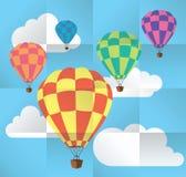 vector hot air balloons Stock Photos