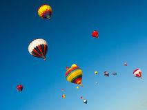 Hot air balloons on the sky Stock Images