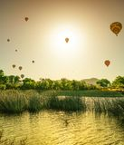 Hot Air Balloons In The Sky Stock Images