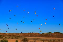 Hot air balloons in the sky Royalty Free Stock Images