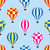 Hot air balloons in the sky, vector  Stock Photos