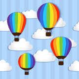Hot Air Balloons in the sky - vector Stock Photography