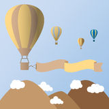 Hot air balloons in the sky vector illustrator. EPS 10 Royalty Free Stock Photo