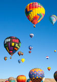 Hot Air Balloons on a Sunrise Flight Royalty Free Stock Image