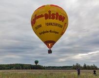 Hot air balloons takeoff. Makariv, Ukraine. Royalty Free Stock Photography