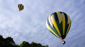 Hot air balloons taking of in Amboise Royalty Free Stock Photos