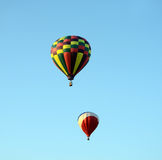 Hot air balloons taking flight Stock Image