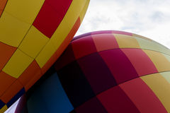 Hot-Air Balloons Touching Royalty Free Stock Image